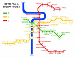 trasy metra